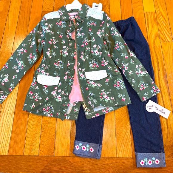 Little Lass 3-Piece Outfit jacket top pants 6X.